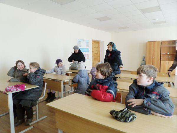 В гимназии